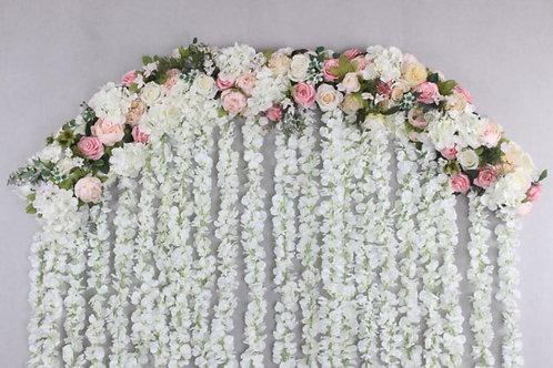 2M Arch flowers, peony hydrangea garland