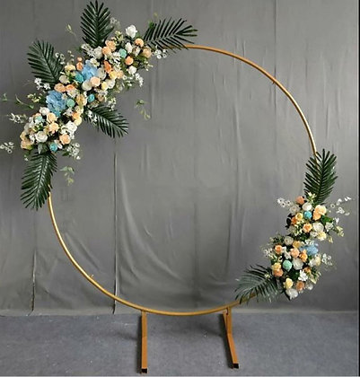 Golden Circle metal stand for wedding - Wedding Decor- Stand for floral arch