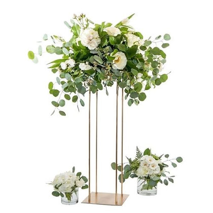 80cm Gold Floral Column stands