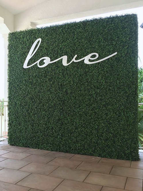 Green Hedge Artificial Flower Wall Panel