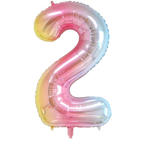 40 inch Unicorn 0-9 Foil Number balloons