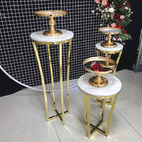 3Pcs/set Metal Table Cake Stand Pillar/ Baby shower decor