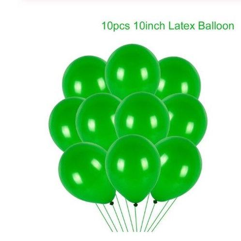 10 pcs Light green Latex balloons
