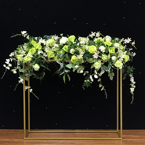 X2 PCS Tall Gold Color Metal flower Stand