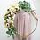 Thumbnail: Golden Hoop Arch Centrepiece with floral arrangement