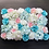 Thumbnail: 10pcs  Light Pinks/Blues Floral wall,Flower Wall, Wedding backdrop