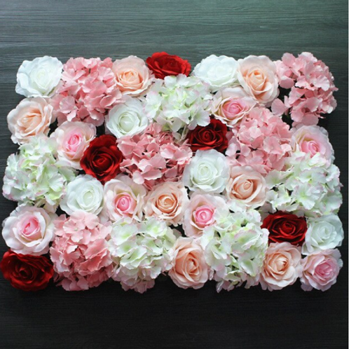 10pcs  Red/Pink & White Floral wall,Flower Wall, Wedding backdrop
