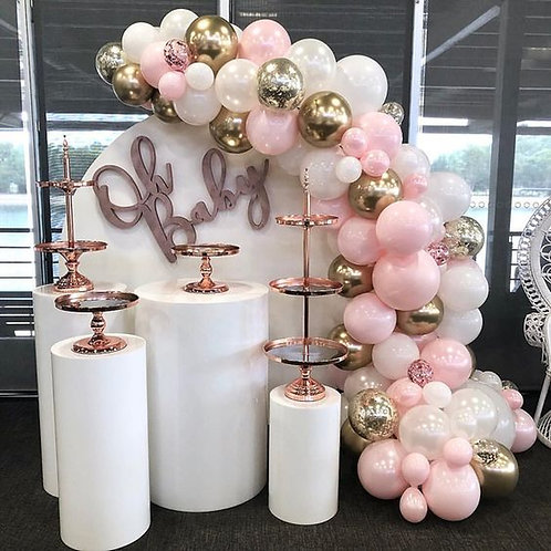 5pc wedding pedestal columns for cakes/ Cake stands/ Baby shower Decor