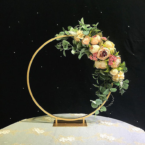 x2pcs 40/50/60cm DIA Metal Floral Hoop / Metal Gold centerpiece