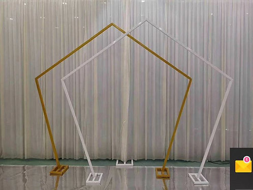 Gold or white Iron metal arch/ hexagonal arch/ flower arch backdrop