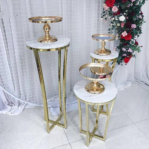 3Pcs/set Metal Table Cake Stand Pillar