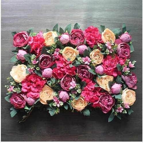 x10pcs Mixed Pink Wall, Pink Floral wall, Pink Flower Wall,Wedding flower wall