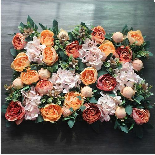 x10pcs Burnt Orange Floral wall,Flower Wall, Wedding backdrop