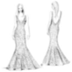Wedding dress sketches