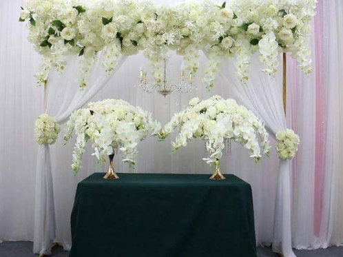 Artificial Ivory silk rose orchid flower row/ lower arrangement