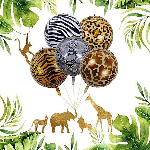 Animal texture foil balloons