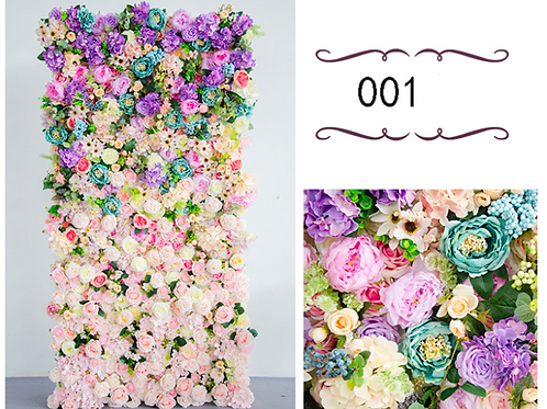 1m*1m wedding backdrop decor window artificial Silk Rose flower wall