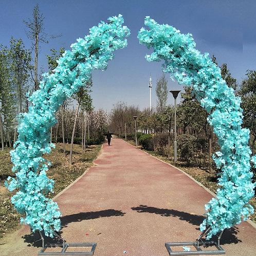 Blue 2.5M artificial cherry blossom arch