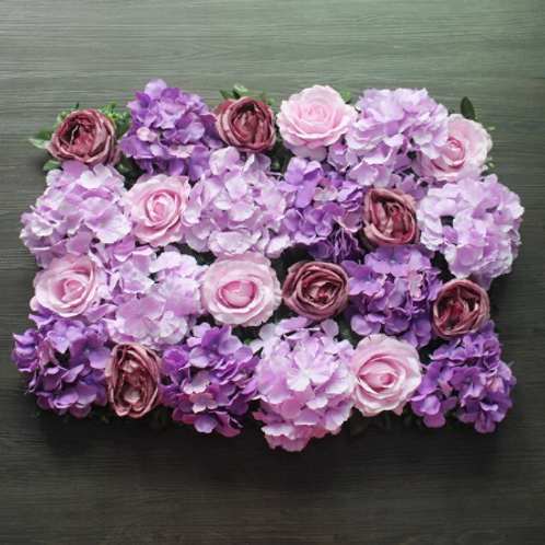 10pcs  Just Purple White Floral wall,Flower Wall, Wedding backdrop