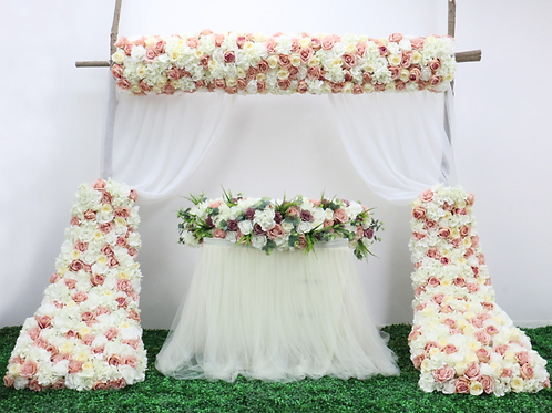 Dirty Pink 150cm Artificial floral wedding decor table runner