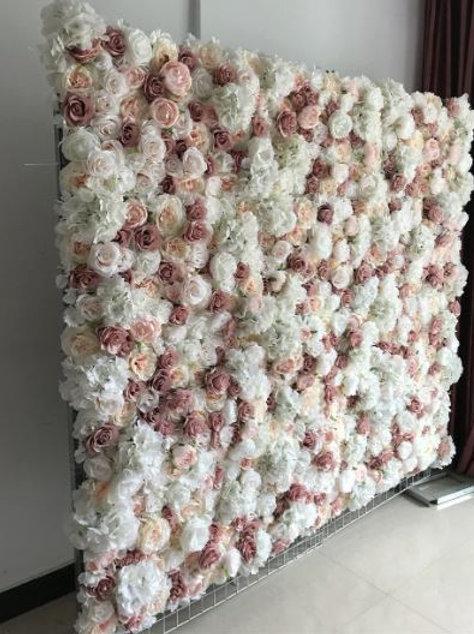 10pcs/lot Artificial silk rose peony 3D flower wall panel wedding backdrop decor