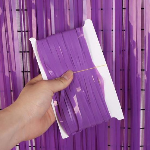 Purple 3M Macaroon fridge Tinsel curtains