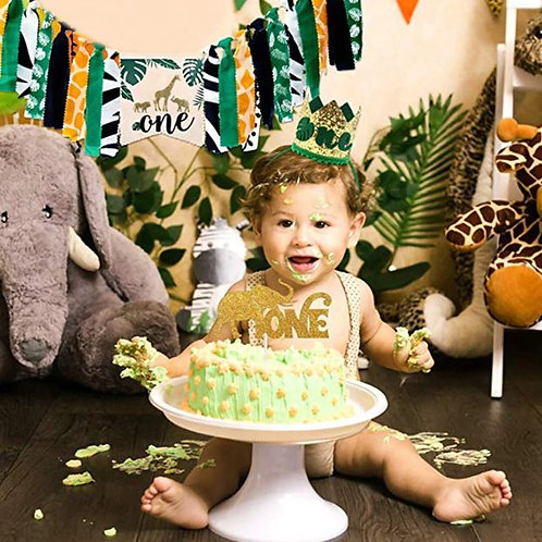 Jungle Safari 1st happy birthday set theme