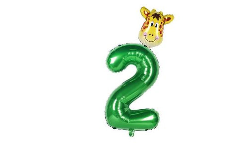 2nd birthday party foil balloon Jungle theme