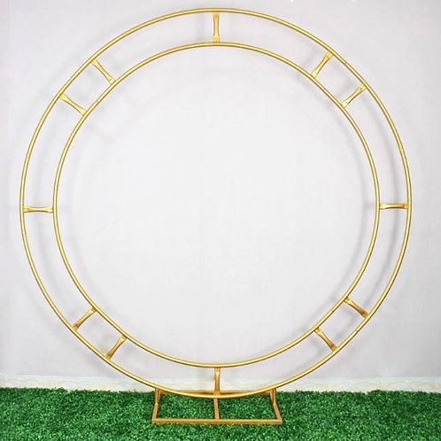 Gold/ Silver Circle metal stand for wedding - Wedding Table Decor-Stand