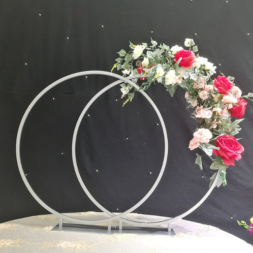 Silver Hoop centerpiece/Wedding Floral Hoop / Metal Gold centerpiece/ Floral ho