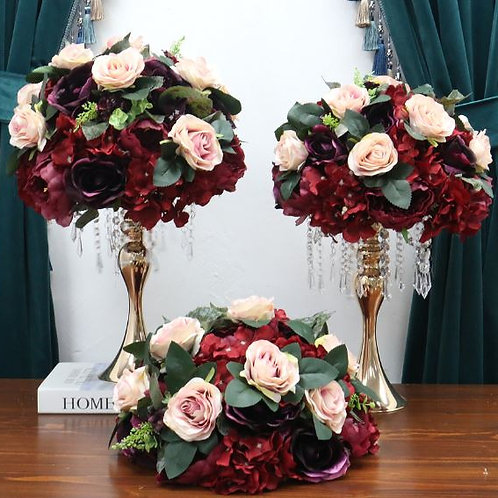 35/45/50 cm artificial burgundy mix centerpieces / wedding centerpiece