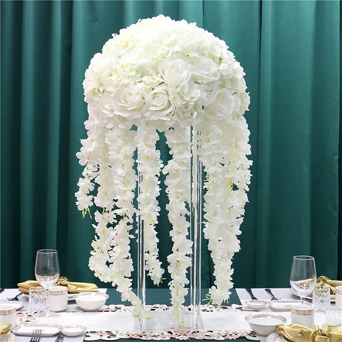 Artificial  peony Flower Table Centerpiece with Wisteria