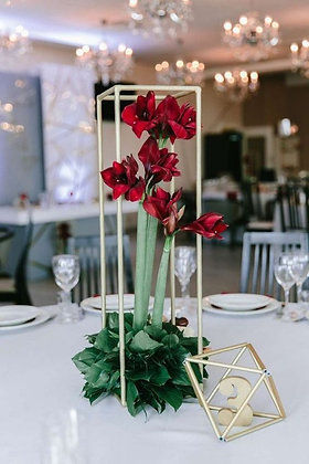 X 10pcs 80cm Gold Metal Geometric Modern Wedding floral stand