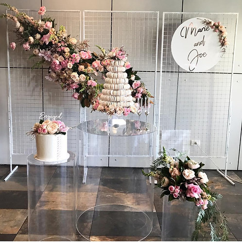 Acrylic X5pcs wedding pedestal columns for cakes/ Cake stands/ Baby shower Decor