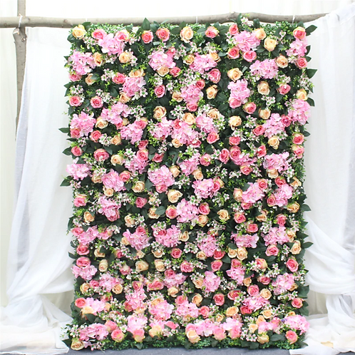 Rose pink Garden Floral wall,Flower Wall, Wedding backdrop