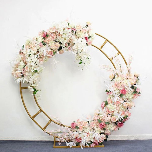 x2 130 cm artificial flower row runner decor / Hydrangea rose peony row