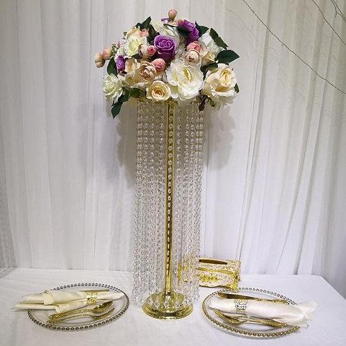 70cm Gold Metal Crystal wedding centerpiece