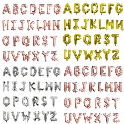 """32"""" Gold/ Rose Gold or Silver  A-Z letters"""
