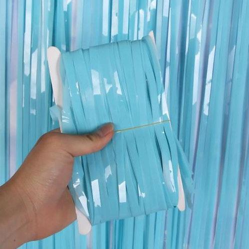 Blue 3M Macaroon fridge Tinsel curtains