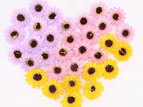 Sunflower Soap Flower Head Bouquet Gift Box Decor