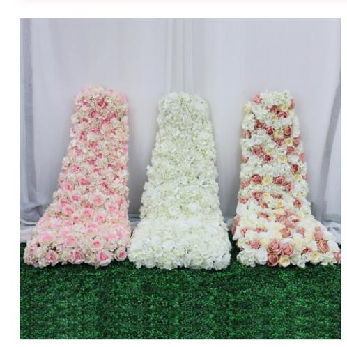 150cm Artificial floral wedding decor table runner