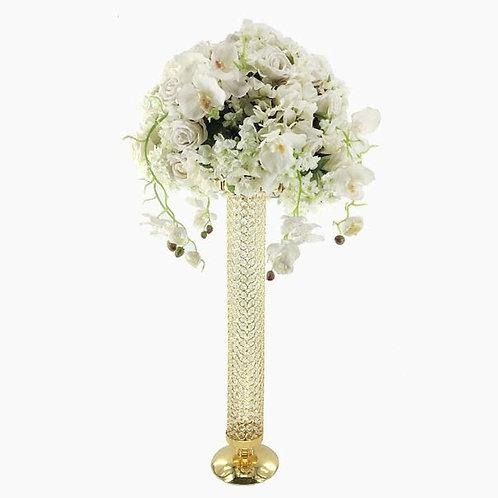 4pcs wedding metal crystal flower stand