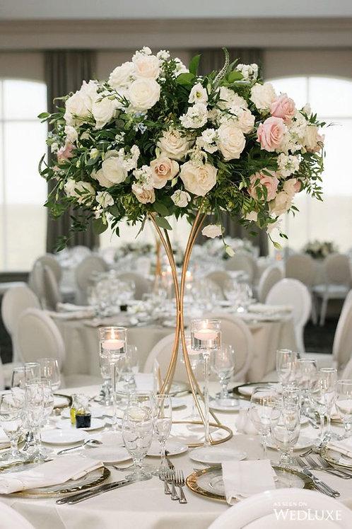 6pcs Tall Gold Geometric Trumpet Modern Wedding floral stand