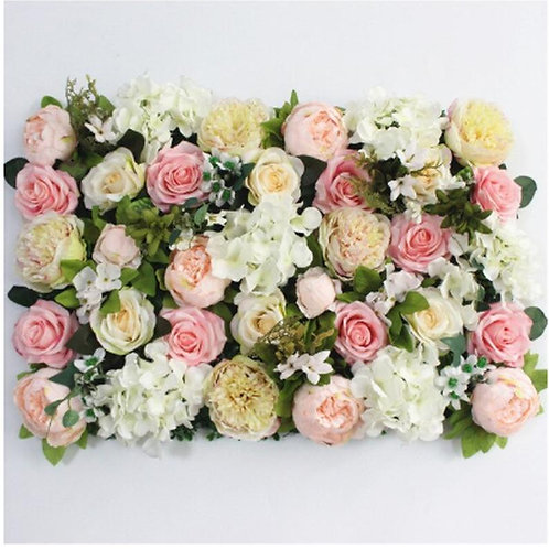 Pink flower wall tile backdrop/ Floral wall/ wedding flower/ photography