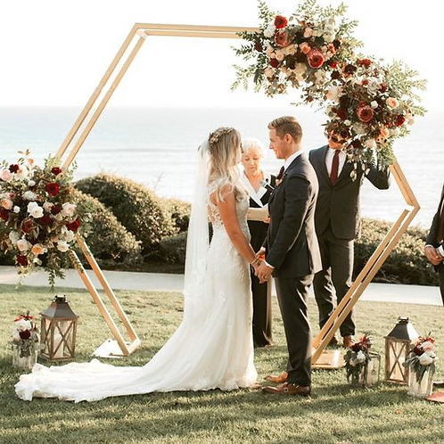 Hex Wedding Arch Wedding Backdrops For Wedding Decoration Stage Decoration