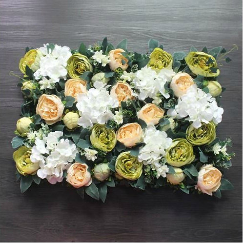 Individual Peach ivy Floral wall,Flower Wall, Wedding backdrop