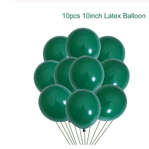 10 pcs dark green Latex balloons