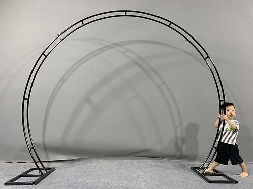 2.4m Black Iron metal arch/ round ceremony arch