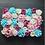 Thumbnail: x 10pcs Pinks/ Blues & White Floral wall,Flower Wall, Wedding backdrop