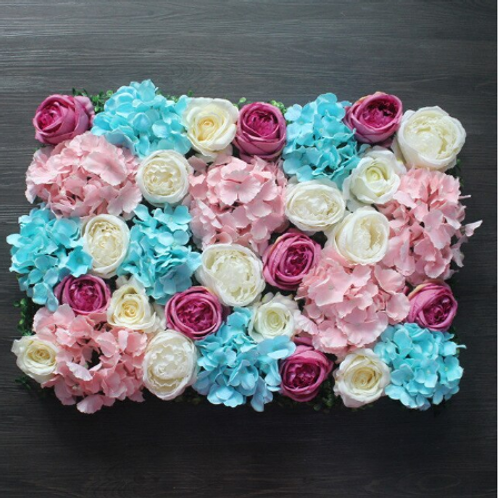 x 10pcs Pinks/ Blues & White Floral wall,Flower Wall, Wedding backdrop